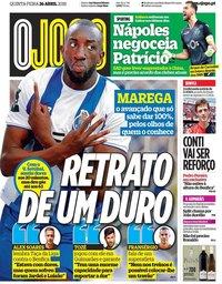 capa Jornal O Jogo de 26 abril 2018