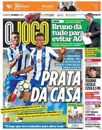 capa Jornal O Jogo de 26 maio 2018