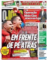 capa Jornal O Jogo de 26 junho 2018