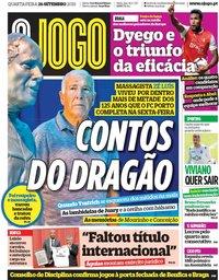 capa Jornal O Jogo de 26 setembro 2018