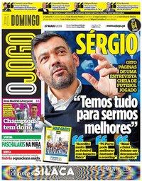 capa Jornal O Jogo de 27 maio 2018
