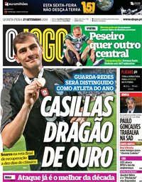 capa Jornal O Jogo de 27 setembro 2018