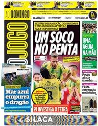 capa Jornal O Jogo de 29 abril 2018
