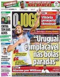 capa Jornal O Jogo de 29 junho 2018