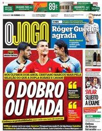 capa Jornal O Jogo de 30 junho 2018