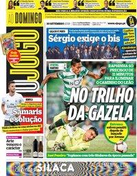 capa Jornal O Jogo de 30 setembro 2018
