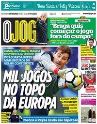 capa Jornal O Jogo de 31 março 2018