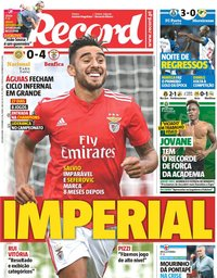 capa Jornal Record de 3 setembro 2018