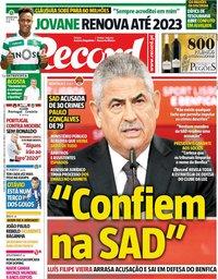 capa Jornal Record de 6 setembro 2018