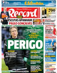 capa Jornal Record de 8 março 2018
