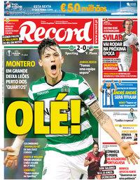 capa Jornal Record de 9 março 2018