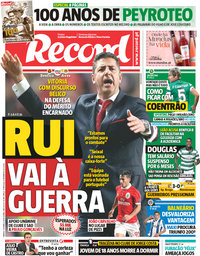 capa Jornal Record de 10 março 2018