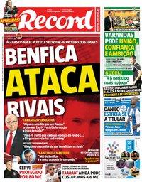 capa Jornal Record de 14 setembro 2018
