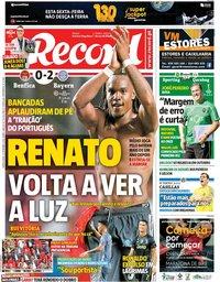 capa Jornal Record de 20 setembro 2018