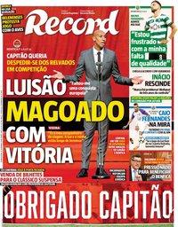capa Jornal Record de 26 setembro 2018