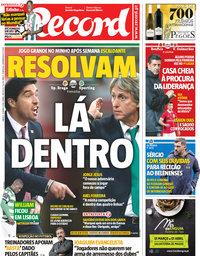 capa Jornal Record de 31 março 2018