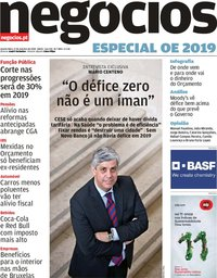 capa Jornal de Negócios de 17 outubro 2018