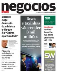capa Jornal de Negócios de 18 outubro 2017
