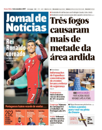 capa Jornal de Notícias de 1 setembro 2017