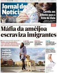capa Jornal de Notícias de 2 maio 2018