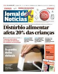capa Jornal de Notícias de 2 setembro 2017