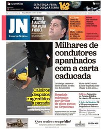 capa Jornal de Notícias de 2 outubro 2018