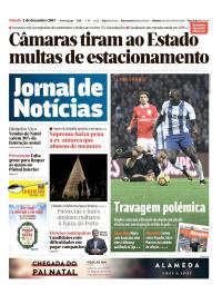 capa Jornal de Notícias de 2 dezembro 2017