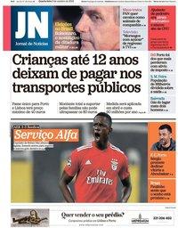 capa Jornal de Notícias de 3 outubro 2018