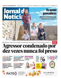 capa Jornal de Notícias de 3 dezembro 2017