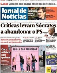 capa Jornal de Notícias de 4 maio 2018