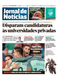 capa Jornal de Notícias de 4 setembro 2017