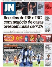 capa Jornal de Notícias de 4 outubro 2018