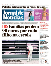 capa Jornal de Notícias de 5 setembro 2017