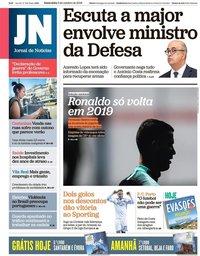capa Jornal de Notícias de 5 outubro 2018