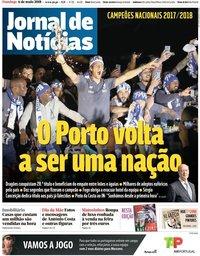 capa Jornal de Notícias de 6 maio 2018