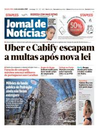 capa Jornal de Notícias de 6 setembro 2017
