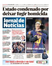 capa Jornal de Notícias de 6 dezembro 2017