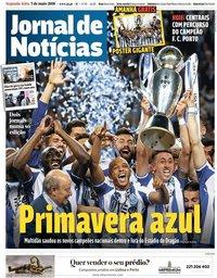 capa Jornal de Notícias de 7 maio 2018