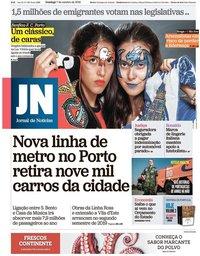 capa Jornal de Notícias de 7 outubro 2018