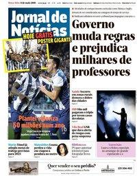 capa Jornal de Notícias de 8 maio 2018