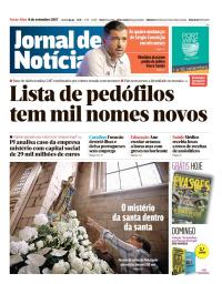capa Jornal de Notícias de 8 setembro 2017