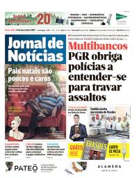 capa Jornal de Notícias de 8 dezembro 2017