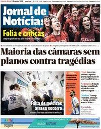 capa Jornal de Notícias de 9 maio 2018
