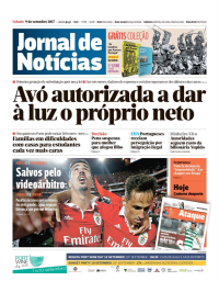 capa Jornal de Notícias de 9 setembro 2017
