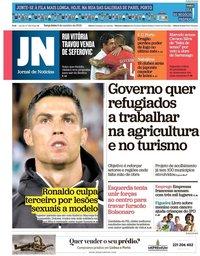 capa Jornal de Notícias de 9 outubro 2018
