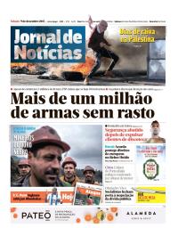 capa Jornal de Notícias de 9 dezembro 2017