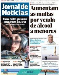 capa Jornal de Notícias de 10 maio 2018