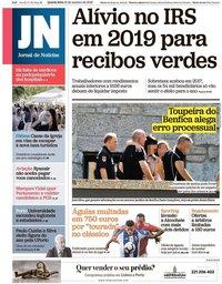 capa Jornal de Notícias de 10 outubro 2018