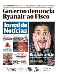 capa Jornal de Notícias de 10 dezembro 2017