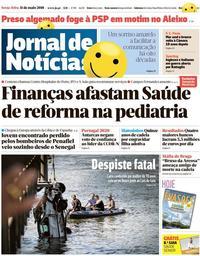 capa Jornal de Notícias de 11 maio 2018